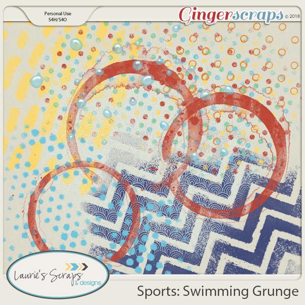 Sports: Swimming Grunge