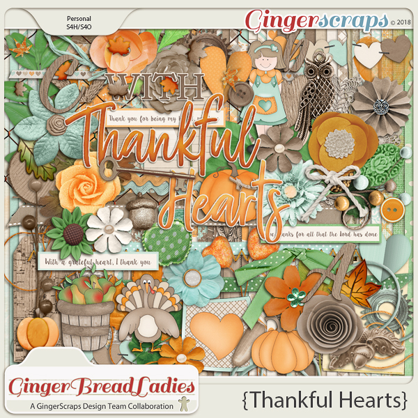 GingerBread Ladies Collab: Thankful Hearts