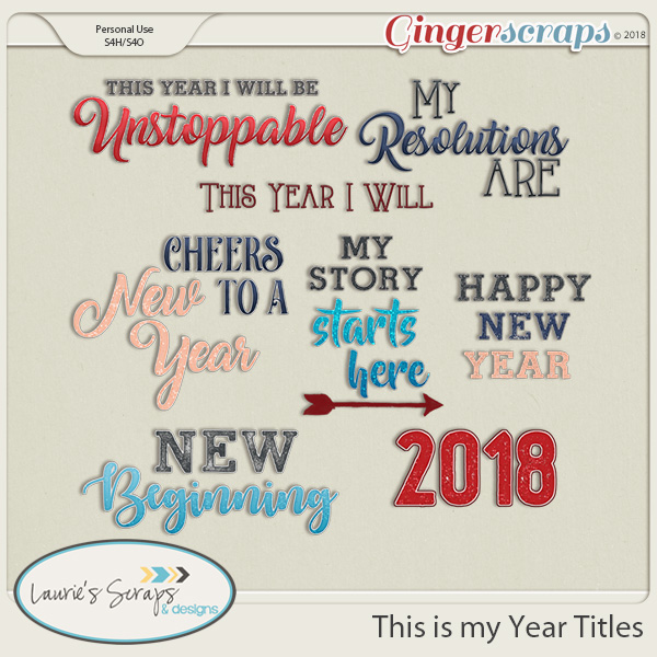 This is my Year Titles