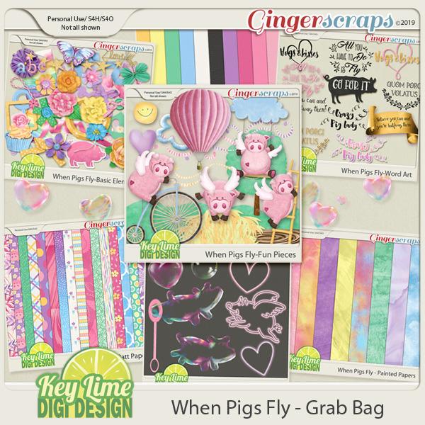 When Pigs Fly GrabBag by Key Lime Digi Design