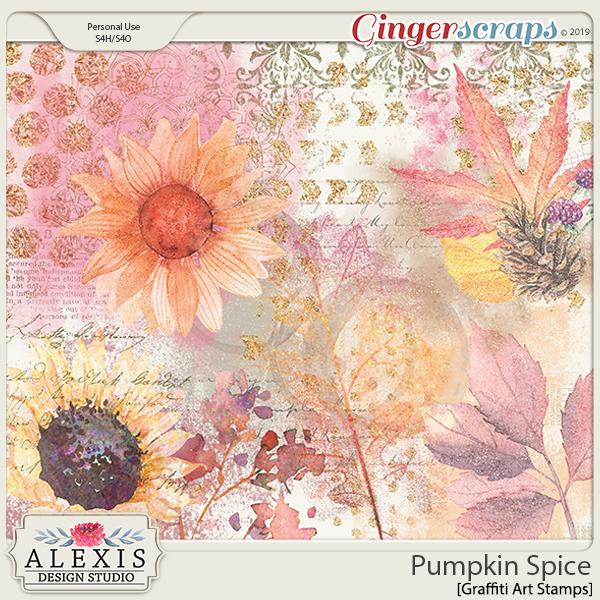 Pumpkin Spice - Graffiti Art Stamps