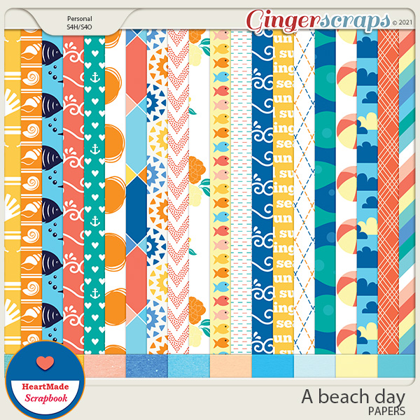 A beach day - papers