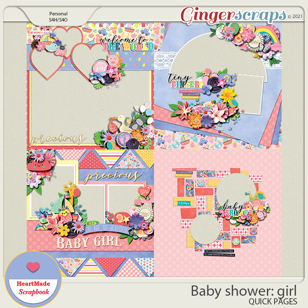 Baby shower: girl - quick pages