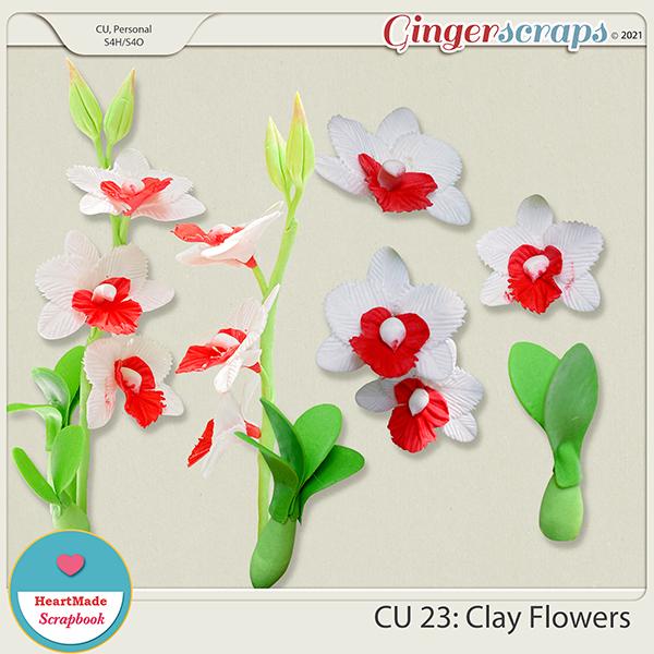 CU 23 - Clay flowers