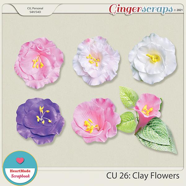 CU 26 - Clay flowers