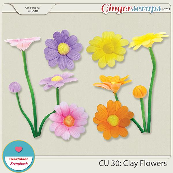 CU 30 - Clay flowers