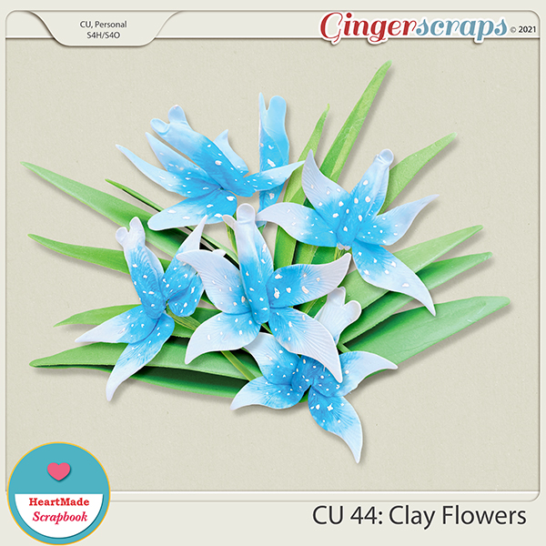 CU 44 - Clay flowers - orchid