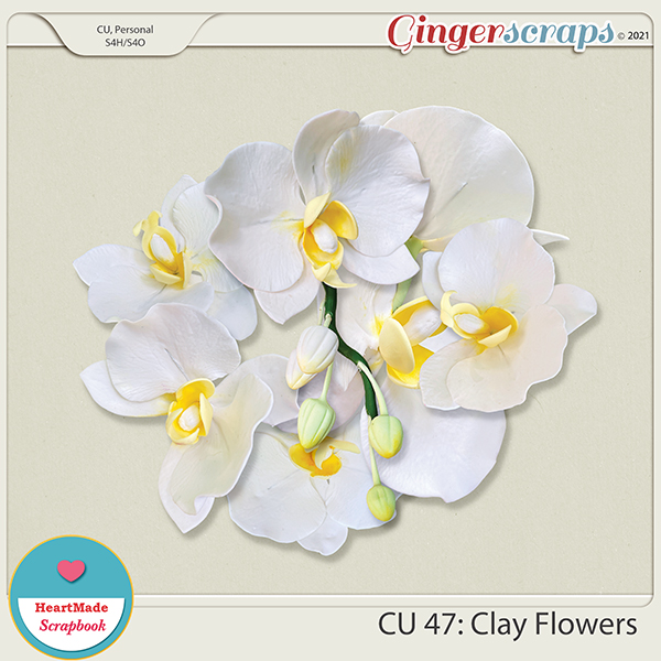 CU 47 - Clay flowers - orchid