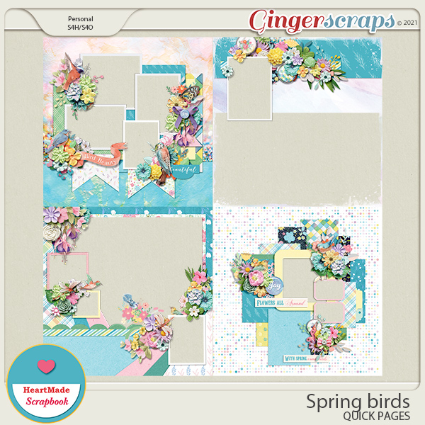 Spring birds - quick pages