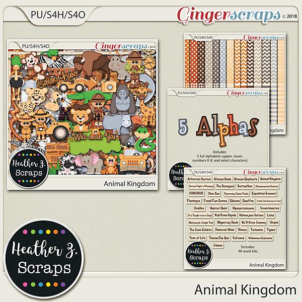 Animal Kingdom BUNDLE by Heather Z Scraps