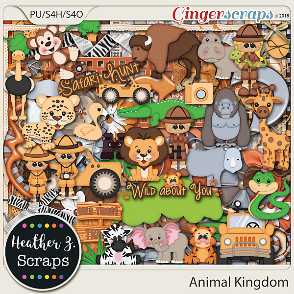Animal Kingdom KIT by Heather Z Scraps