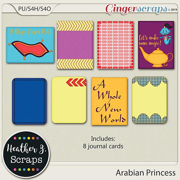 Arabian Princess JOURNAL CARDS by Heather Z Scraps