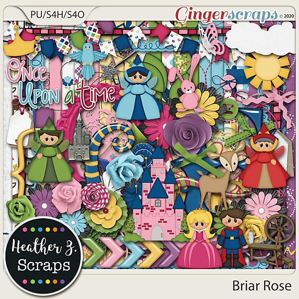 Briar Rose KIT by Heather Z Scraps