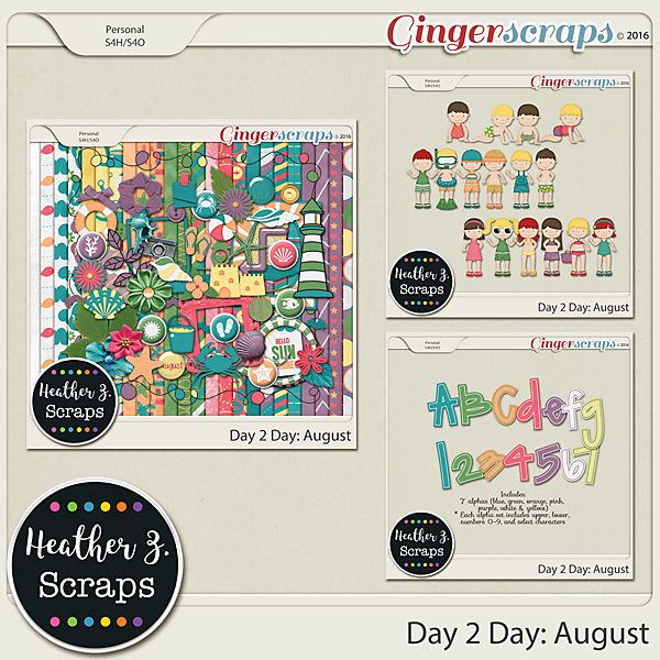 Day 2 Day: August BUNDLE by Heather Z Scraps