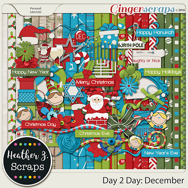 Day 2 Day: December KIT by Heather Z Scraps