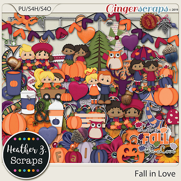 Fall in Love ELEMENTS by Heather Z Scraps
