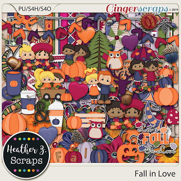 Fall in Love KIT by Heather Z Scraps