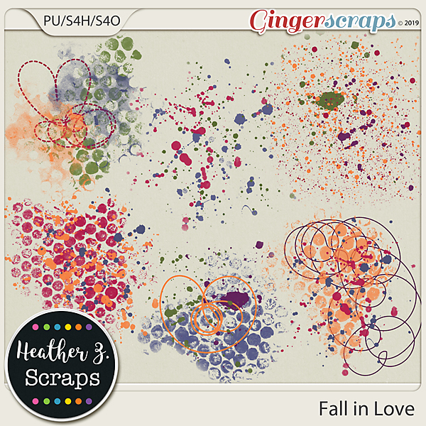 Fall in Love PAINT by Heather Z Scraps
