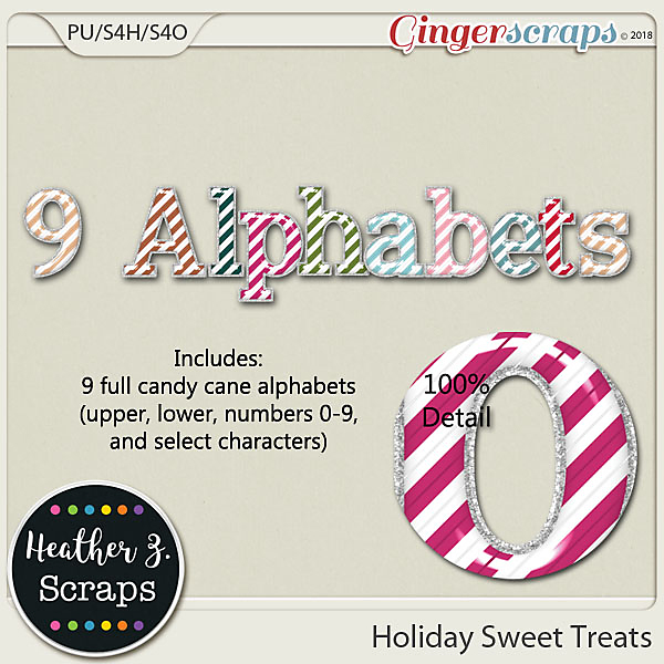 Holiday Sweet Treats ALPHABETS by Heather Z Scraps