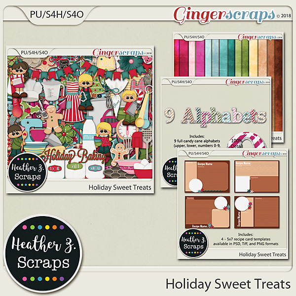Holiday Sweet Treats BUNDLE by Heather Z Scraps