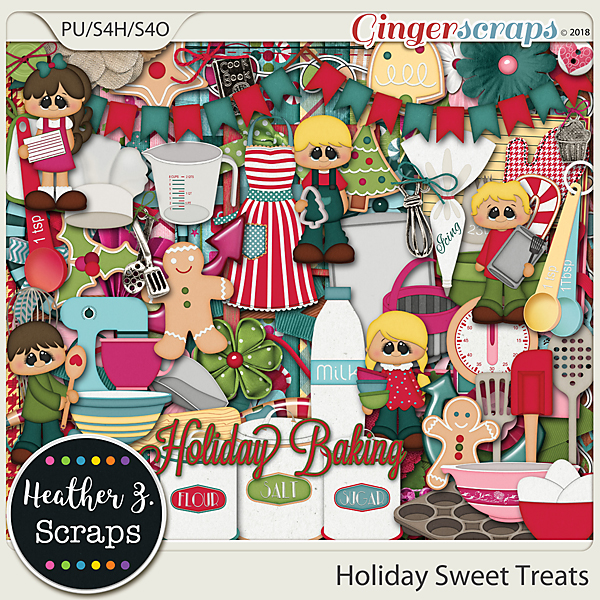 Holiday Sweet Treats KIT by Heather Z Scraps