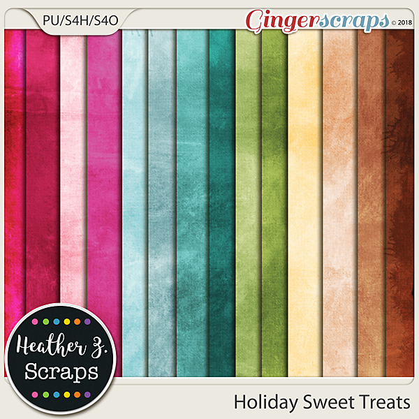 Holiday Sweet Treats SOLID PAPERS by Heather Z Scraps