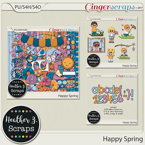 Happy Spring KIT by Heather Z Scraps