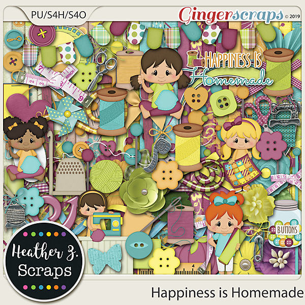 Happiness is Homemade KIT by Heather Z Scraps
