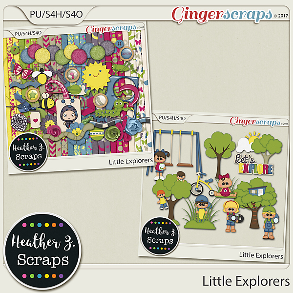 Little Explorers KIT by Heather Z Scraps