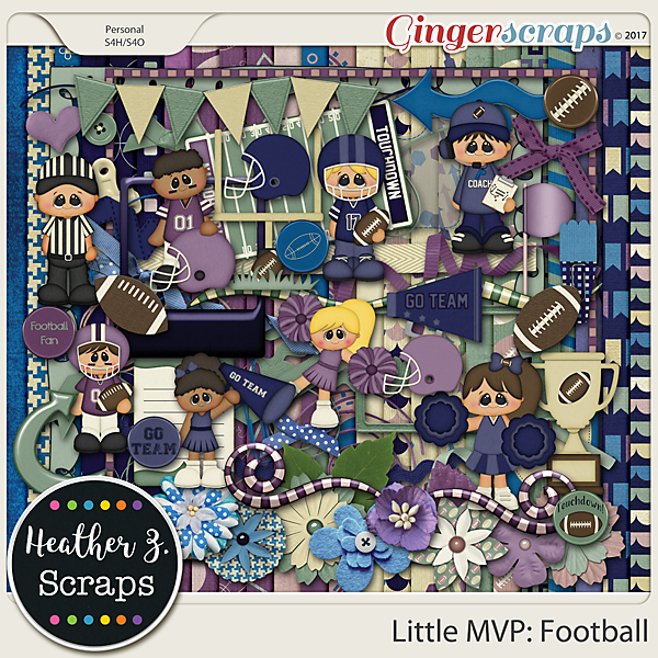 Little MVP: Football KIT by Heather Z Scraps