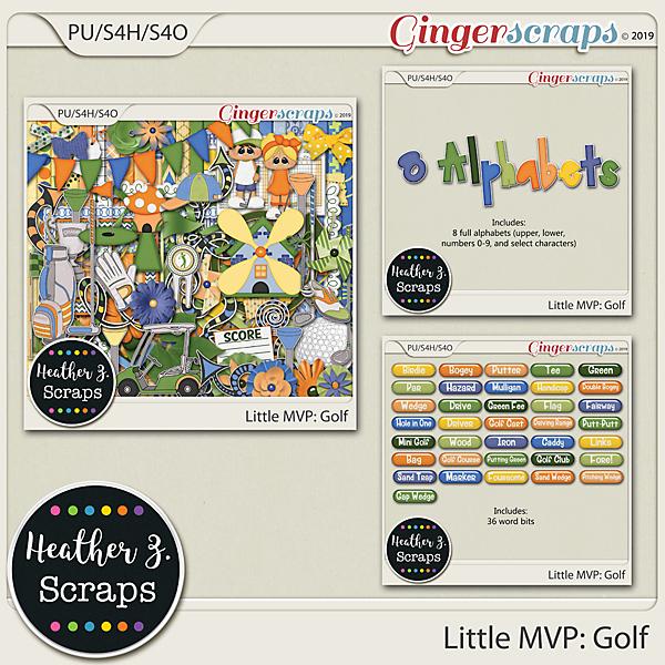Little MVP: Golf BUNDLE by Heather Z Scraps