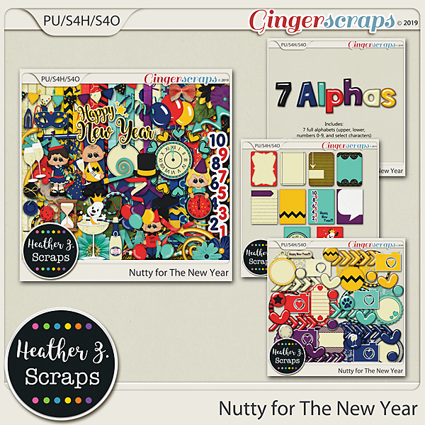 Nutty for The New Year BUNDLE by Heather Z Scraps