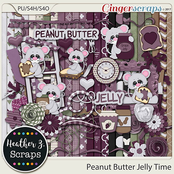Peanut Butter Jelly Time KIT by Heather Z Scraps