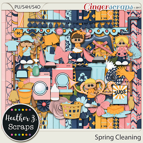 Spring Cleaning KIT by Heather Z Scraps