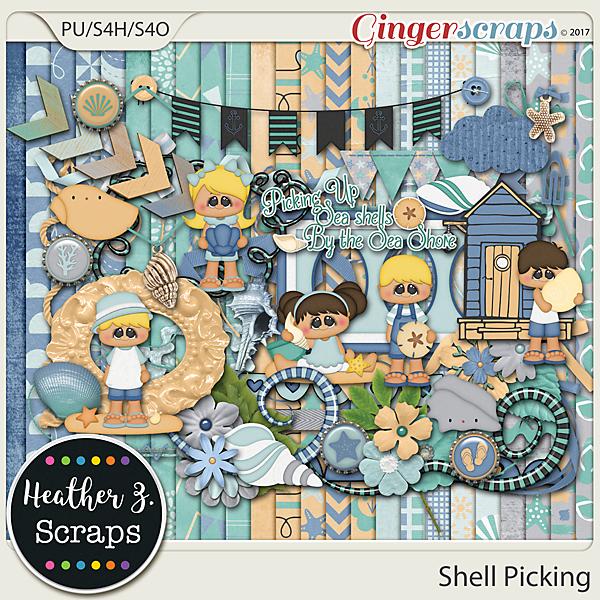 Shell Picking KIT by Heather Z Scraps