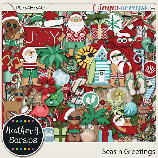 Seas n Greetings KIT by Heather Z Scraps