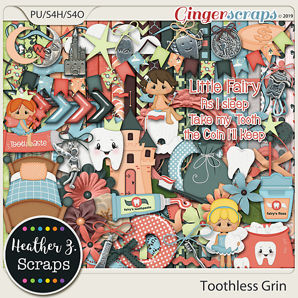 Toothless Grin KIT by Heather Z Scraps