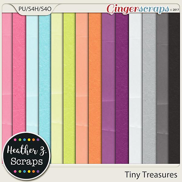 Tiny Treasures SOLIDS by Heather Z Scraps