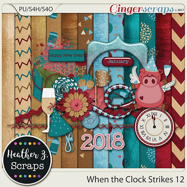 When the Clock Strikes 12 MINI KIT by Heather Z Scraps