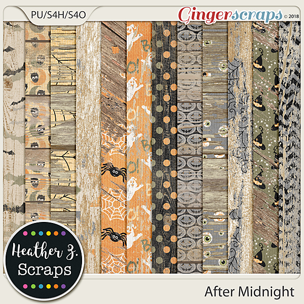 After Midnight WEATHERED WOOD by Heather Z Scraps