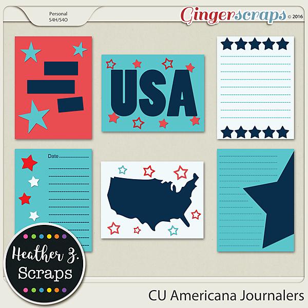 CU Americana JOURNAL CARDS by Heather Z Scraps