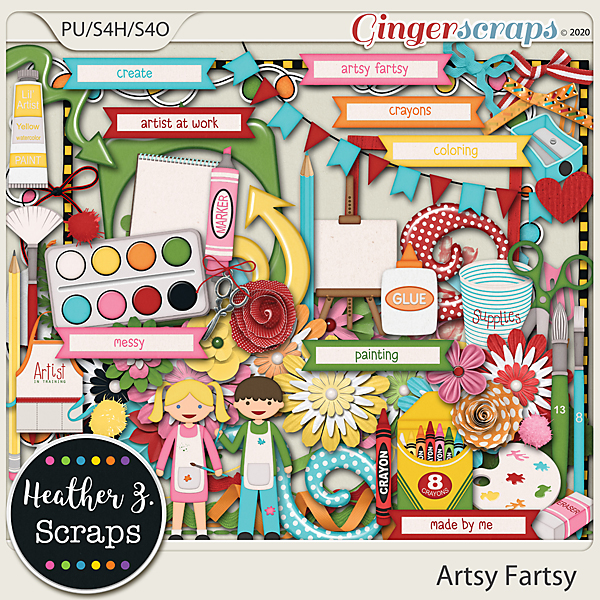 Artsy Fartsy ELEMENTS by Heather Z Scraps