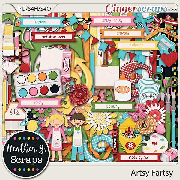Artsy Fartsy KIT by Heather Z Scraps