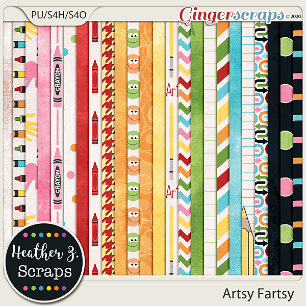 Artsy Fartsy PAPERS by Heather Z Scraps