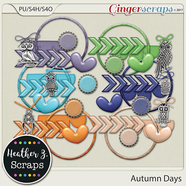 Autumn Days ACCENTS by Heather Z Scraps