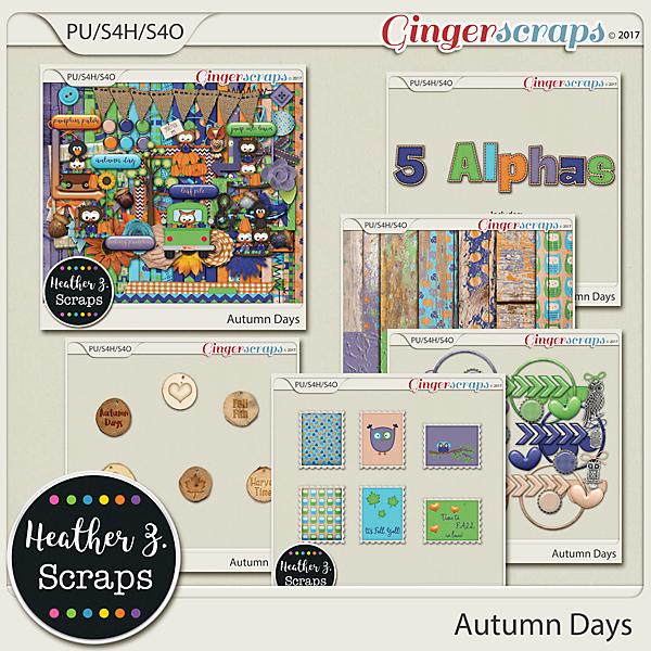 Autumn Days BUNDLE by Heather Z Scraps
