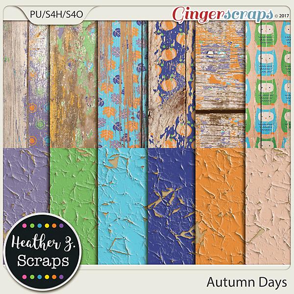 Autumn Days PEELING WOOD by Heather Z Scraps