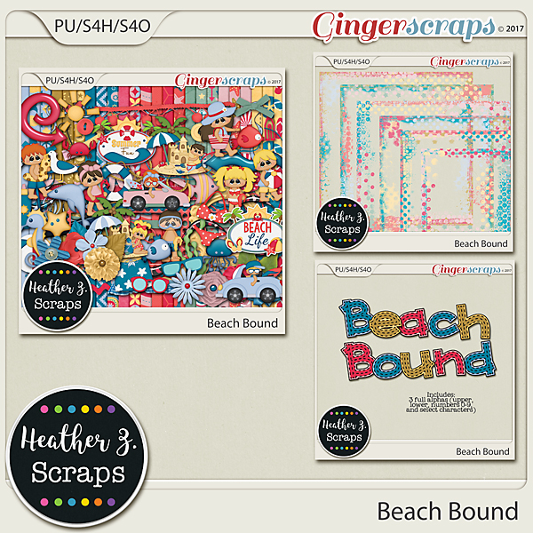 Beach Bound BUNDLE by Heather Z Scraps
