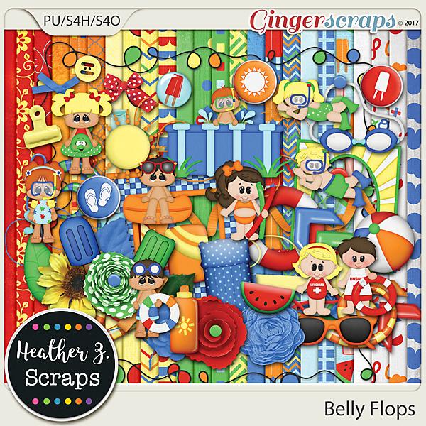 Belly Flops KIT by Heather Z Scraps