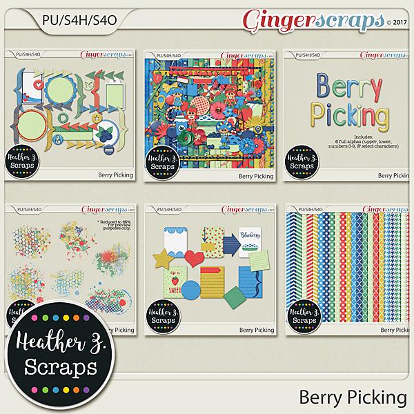 Berry Picking BUNDLE by Heather Z Scraps